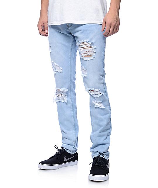 crysp jones light blue fade slim fit jeans ... aumonoo