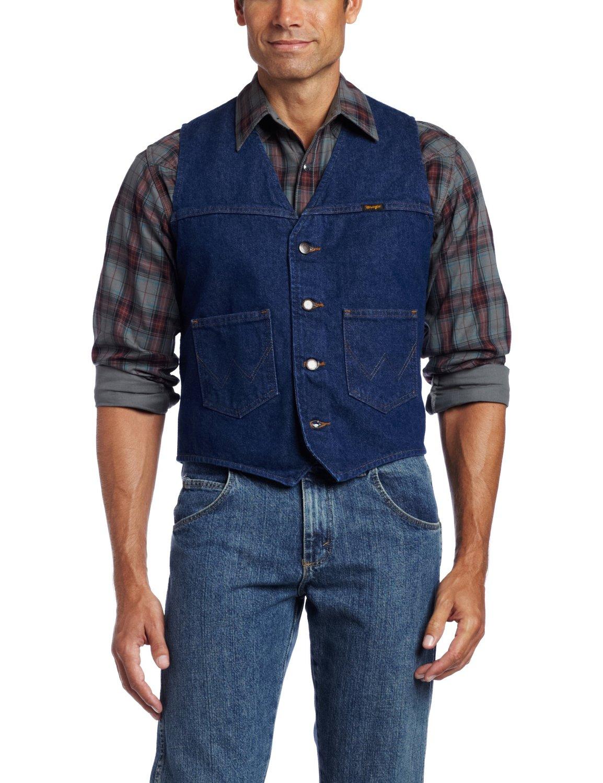 denim vest for men wrangler menu0027s unlined denim vest at amazon menu0027s clothing store: outerwear  vests usxxtog