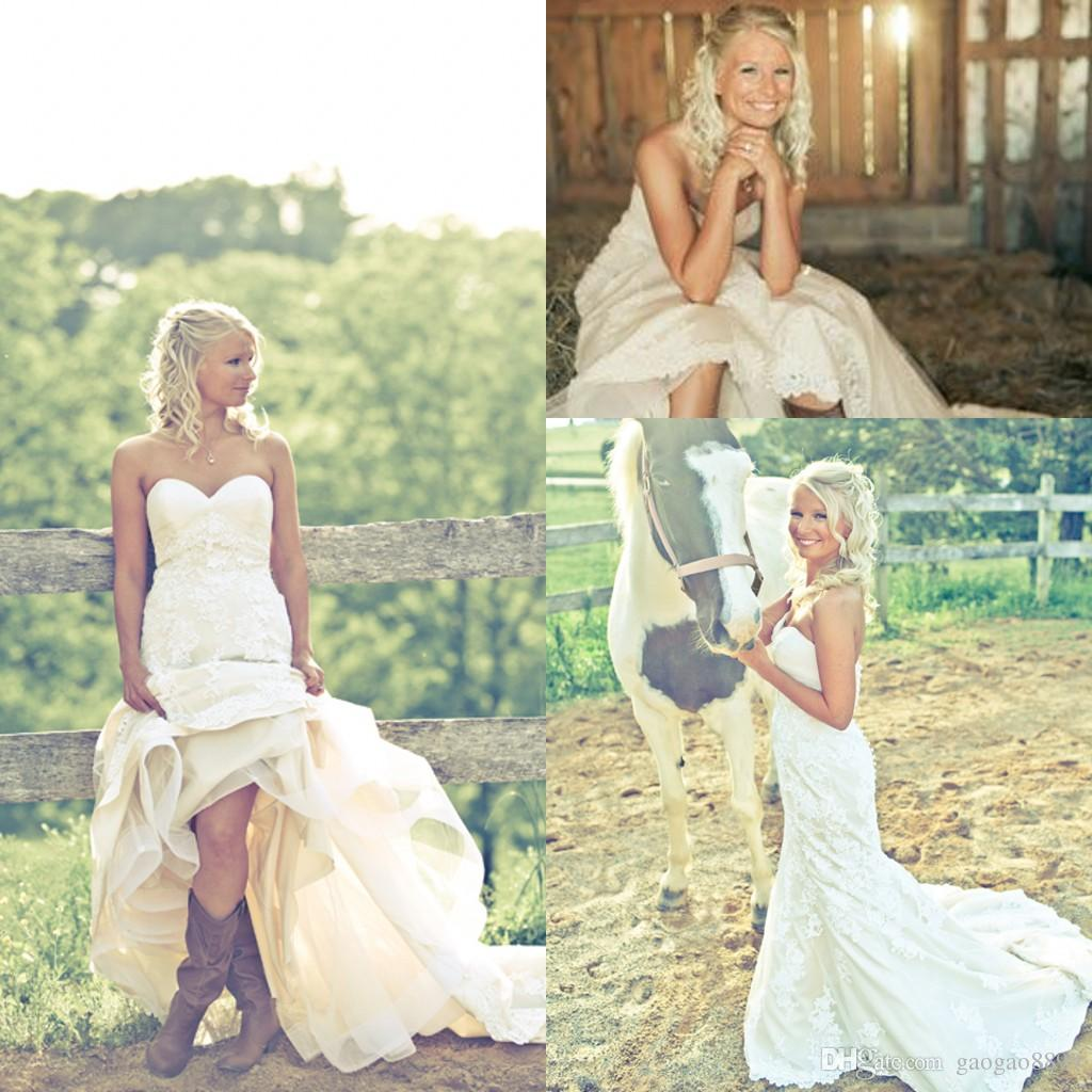 discount bride in cowgirl boots country wedding dresses 2016 sweetheart  backless backless xodwwyr