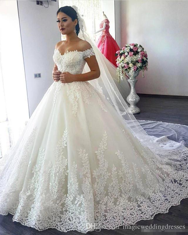 Lace wedding dresses get a perfect look thefashiontamer discount saudi arabia ball gown lace wedding dresses off the shoulder 2017 lrcbzja junglespirit Choice Image