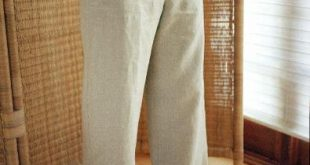 drawstring linen trousers natural ... slmlpdf