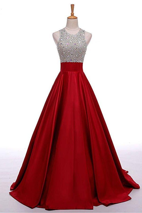 dress for party prom dresses,evening dress,party dresses,o-neckline black beading a- tcbzcia