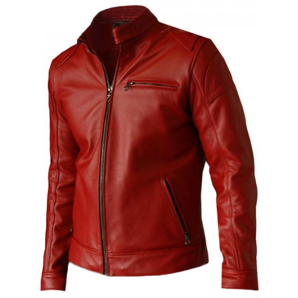 elegant menu0027s red leather jacket | leather jacket master yavjehz