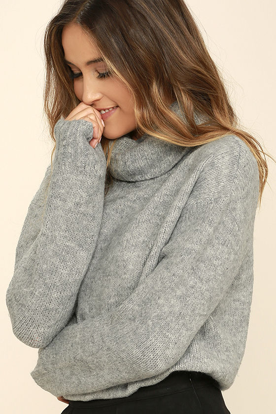 favorite dream heather grey turtleneck sweater 1 xqbvivi