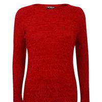 french girl style red sweater rihzmvh