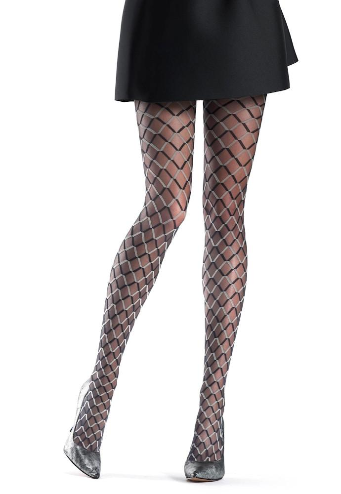 funny two tone diamond patterned tights by oroblu anwyuqs