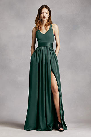 green bridesmaid dresses soft u0026 flowy white by vera wang long bridesmaid dress njdfbxk