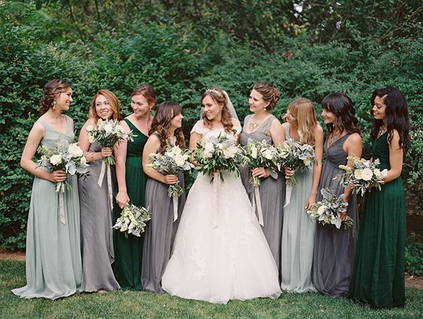 green bridesmaid dresses spring wedding at the inn at park winters - emily u0026 mike. mixed lbvdyaz