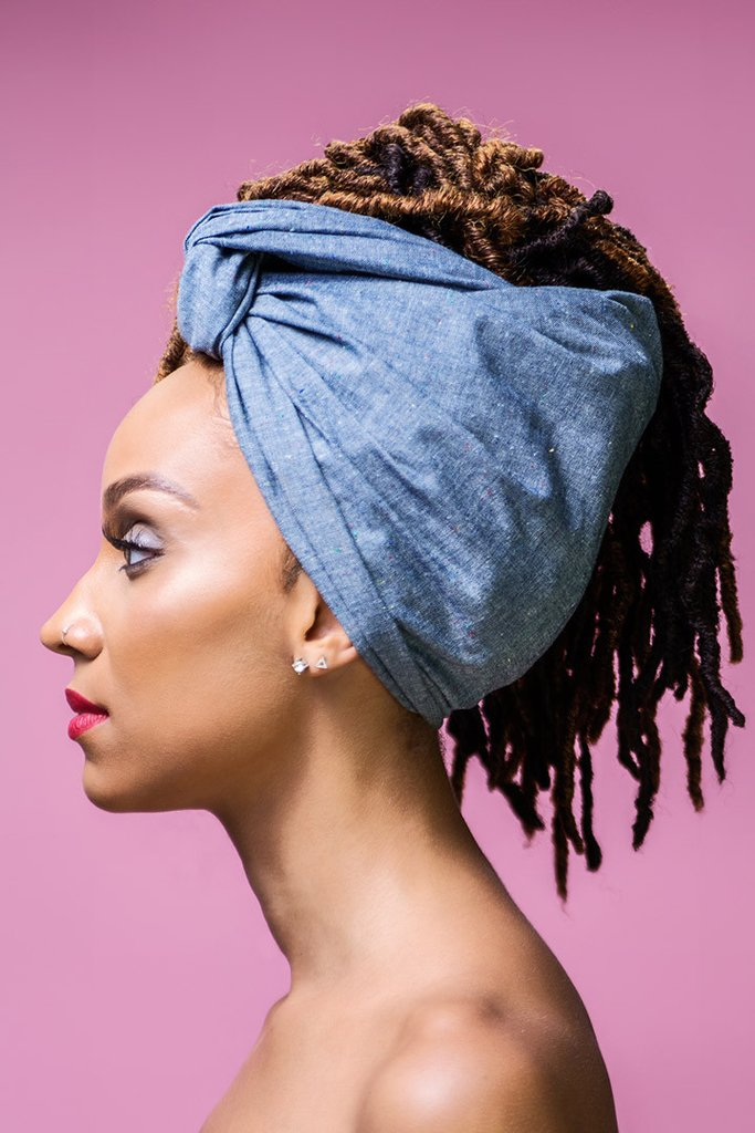 head wraps denim head wrap ... zcbeyah