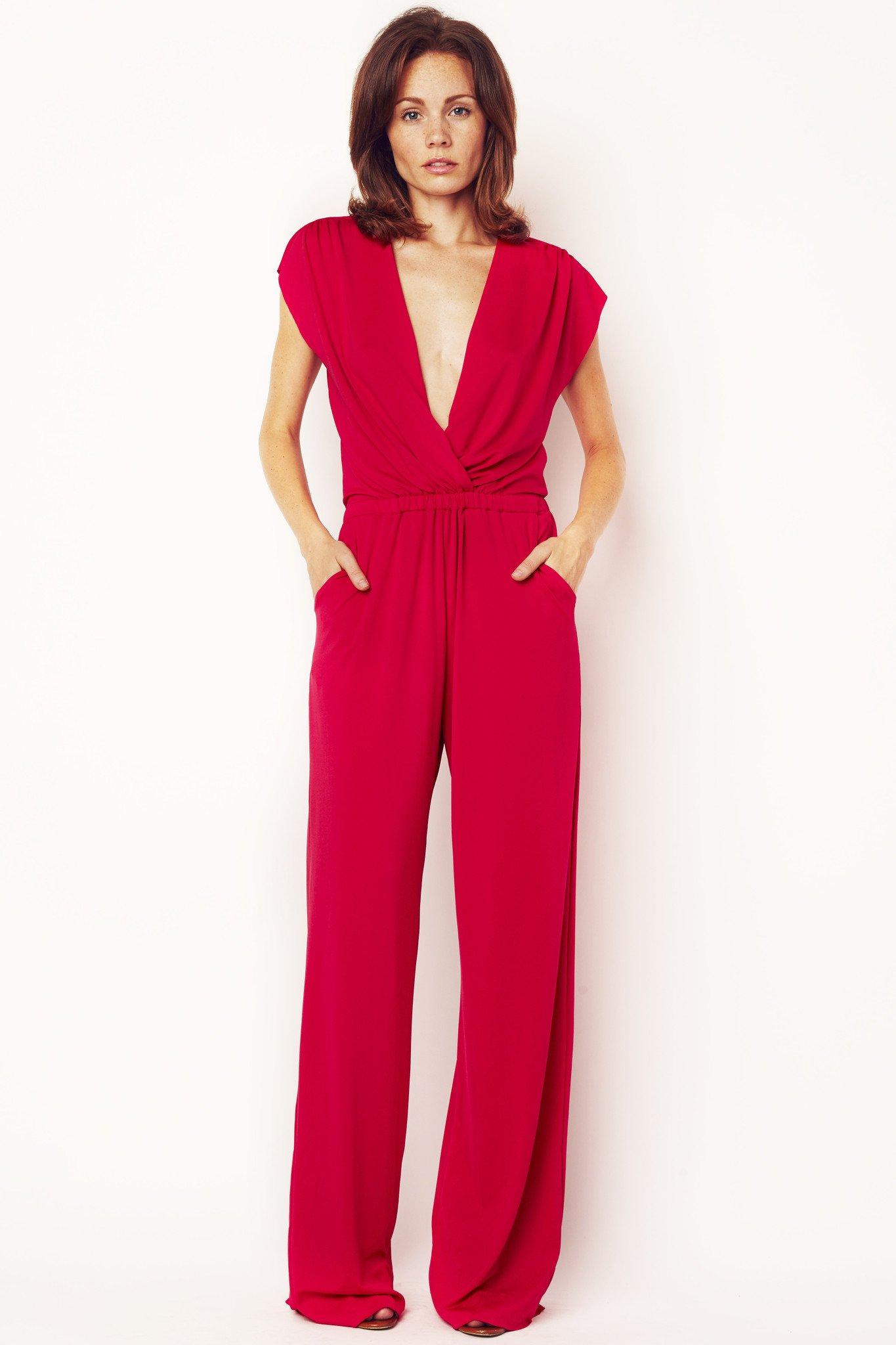 hot pink jumpsuit - classic kvagcwf