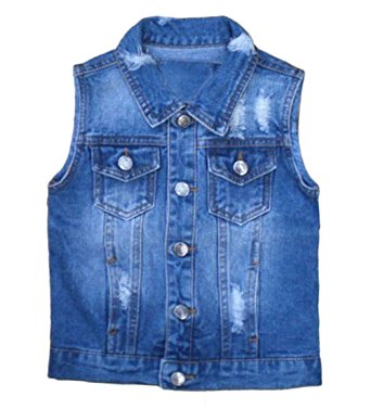 jean vest boys kids denim vest jacket vsvsxxd