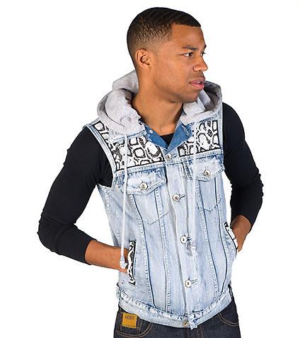 jean vest ... dfynt - jackets - snake blue denim vest ... ybqdghv