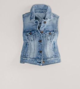 jean vest image is loading nwt-american-eagle-cropped-denim-jean-vest-jacket- uyphrjg
