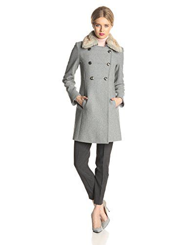 jessica simpson coats jessica simpson womenu0027s double breasted military wool coat with fur collar qokdjrc