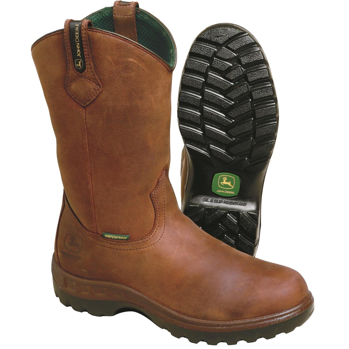 Wearing John Deere boots for men
