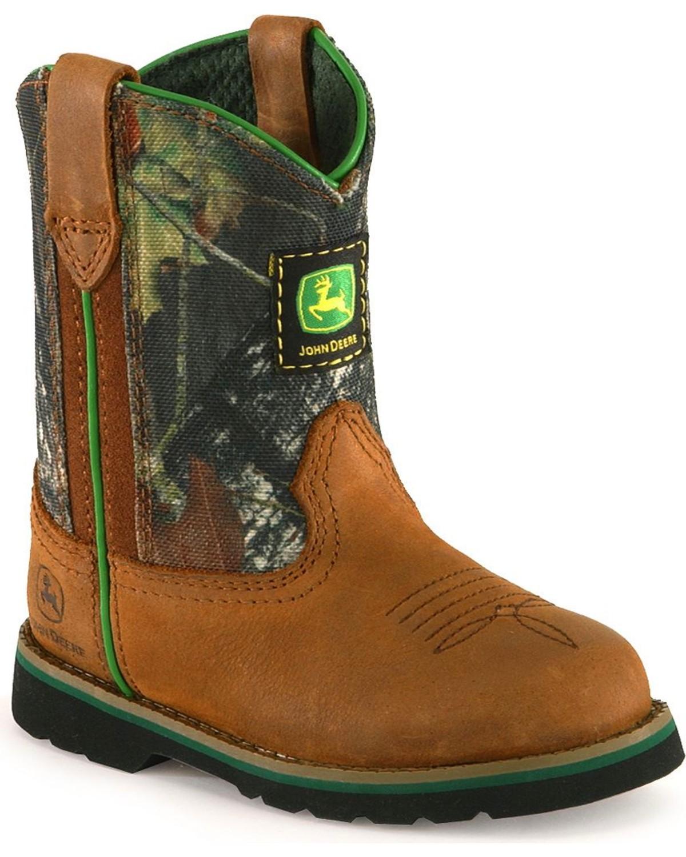 john deere boots john deere toddler boysu0027 camo johnny popper boots - roper ozkcqeu