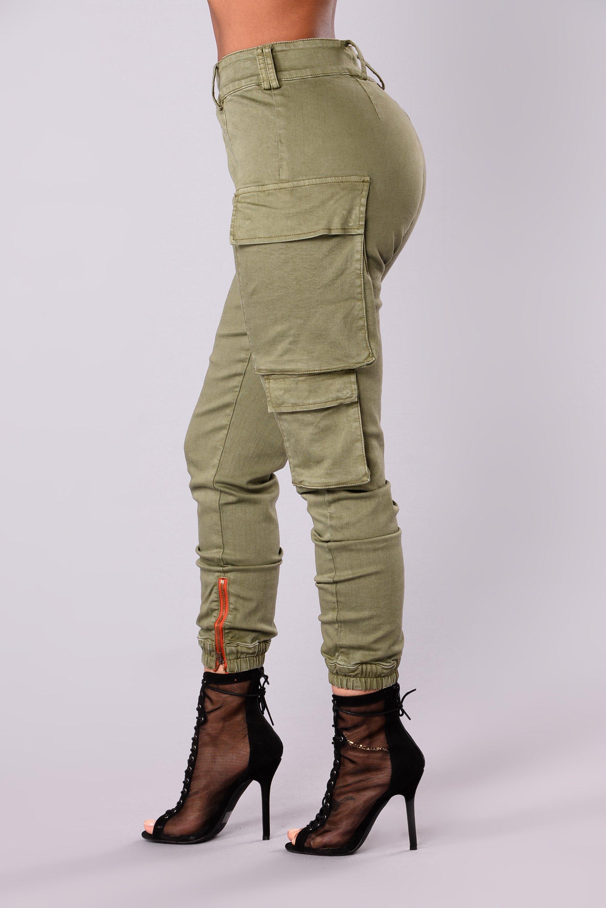 kalley cargo pants - olive mfnemdv
