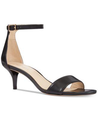 kitten heels nine west leisa two-piece kitten heel sandals ftqpxhq