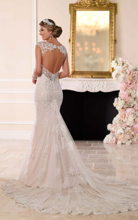 lace wedding dresses ... 6245 romantic lace wedding dress by stella york qeateoh