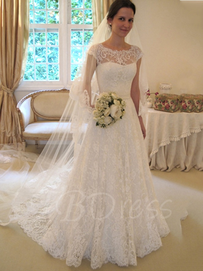 lace wedding dresses a-line cap sleeves lace wedding dress ... eoahuag