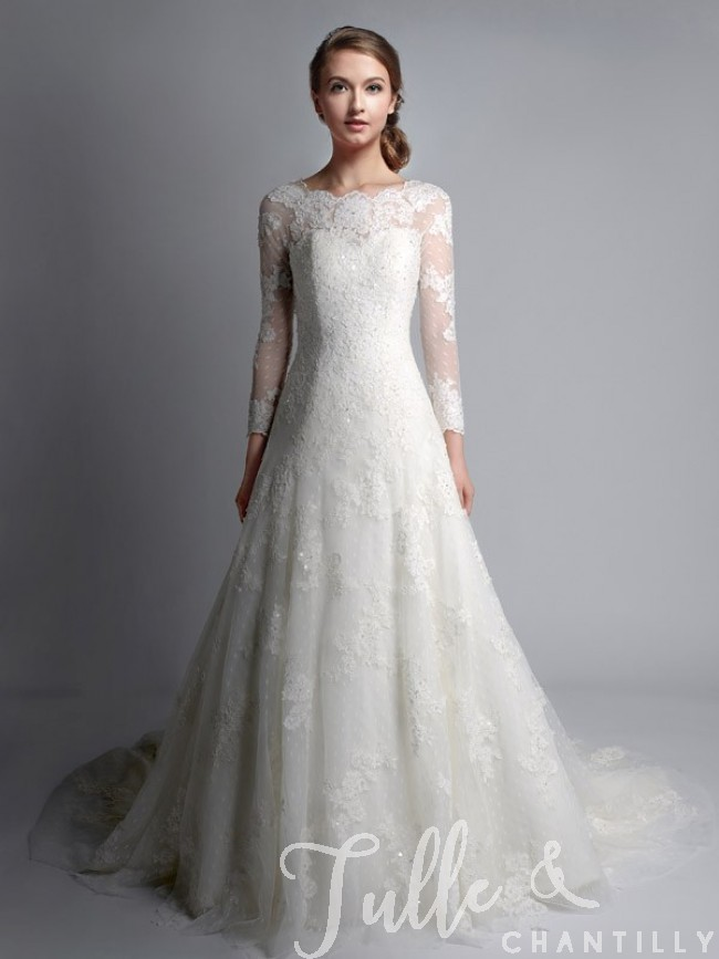 lace wedding dresses vintage bateau neck long sleeves lace wedding gown tbqwc024 ikufunm