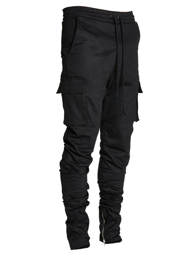lantz twill cargo pants black ... ymrkmaz
