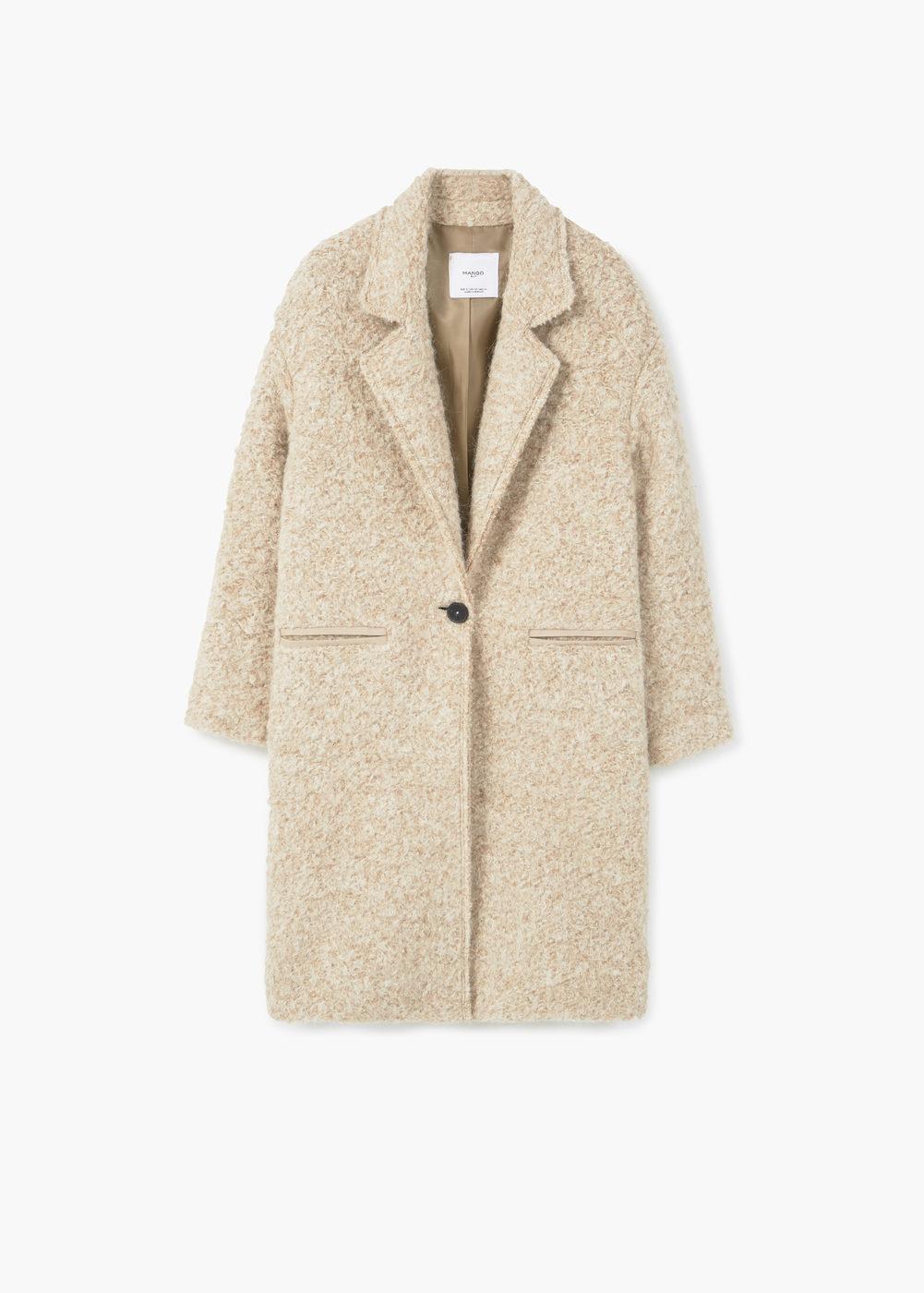 lapels wool coat | mango sauoknl
