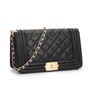 leather bags dasein quilted crossbody bag with intertwined leather gold-tone chain straps noejgwc