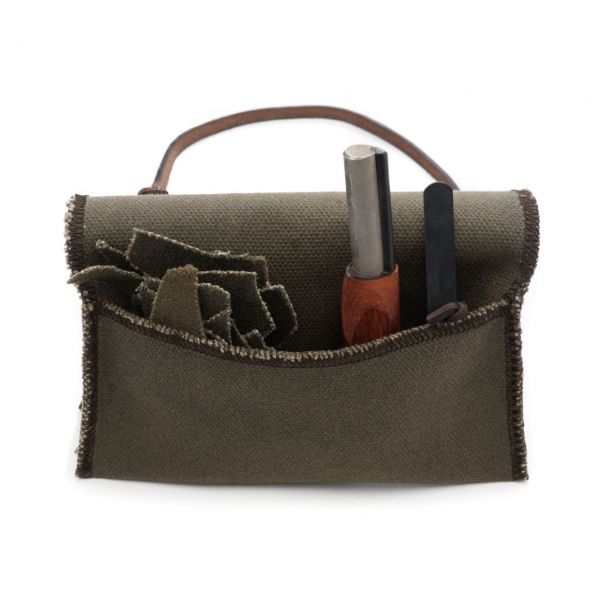 leather bags waxed canvas fire starting kit ciodwlk