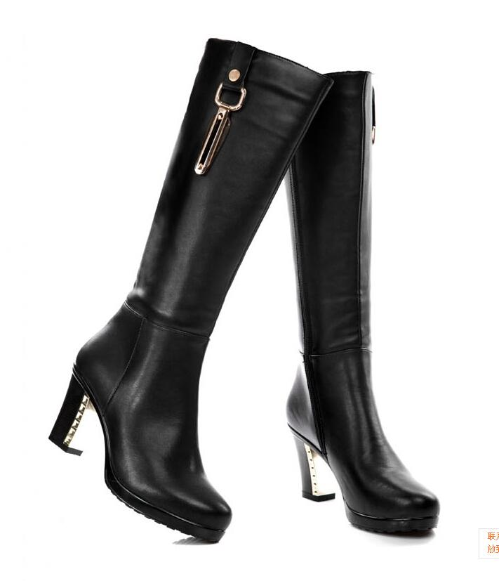 leather boots for women 2014 new winter women boots authentic leather boots european and american  wind ahrvpai