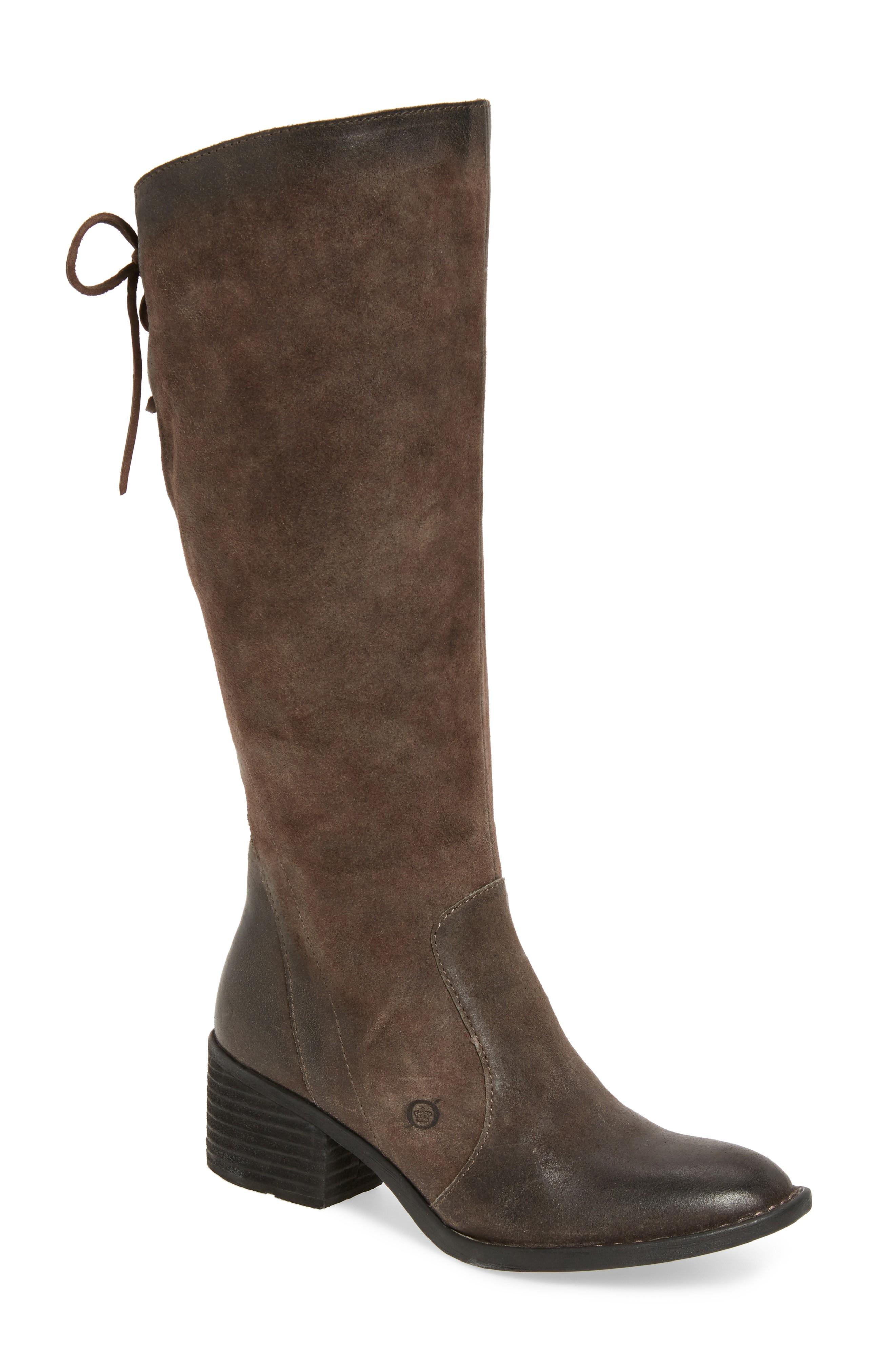 leather boots for women børn felicia knee high boot (women) (regular u0026 wide calf) nixqtfv