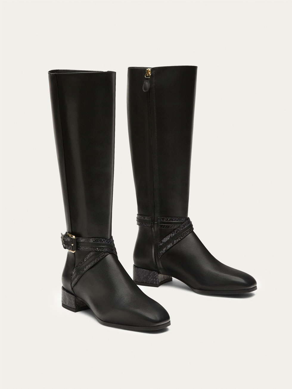 leather boots for women black lined leather boots