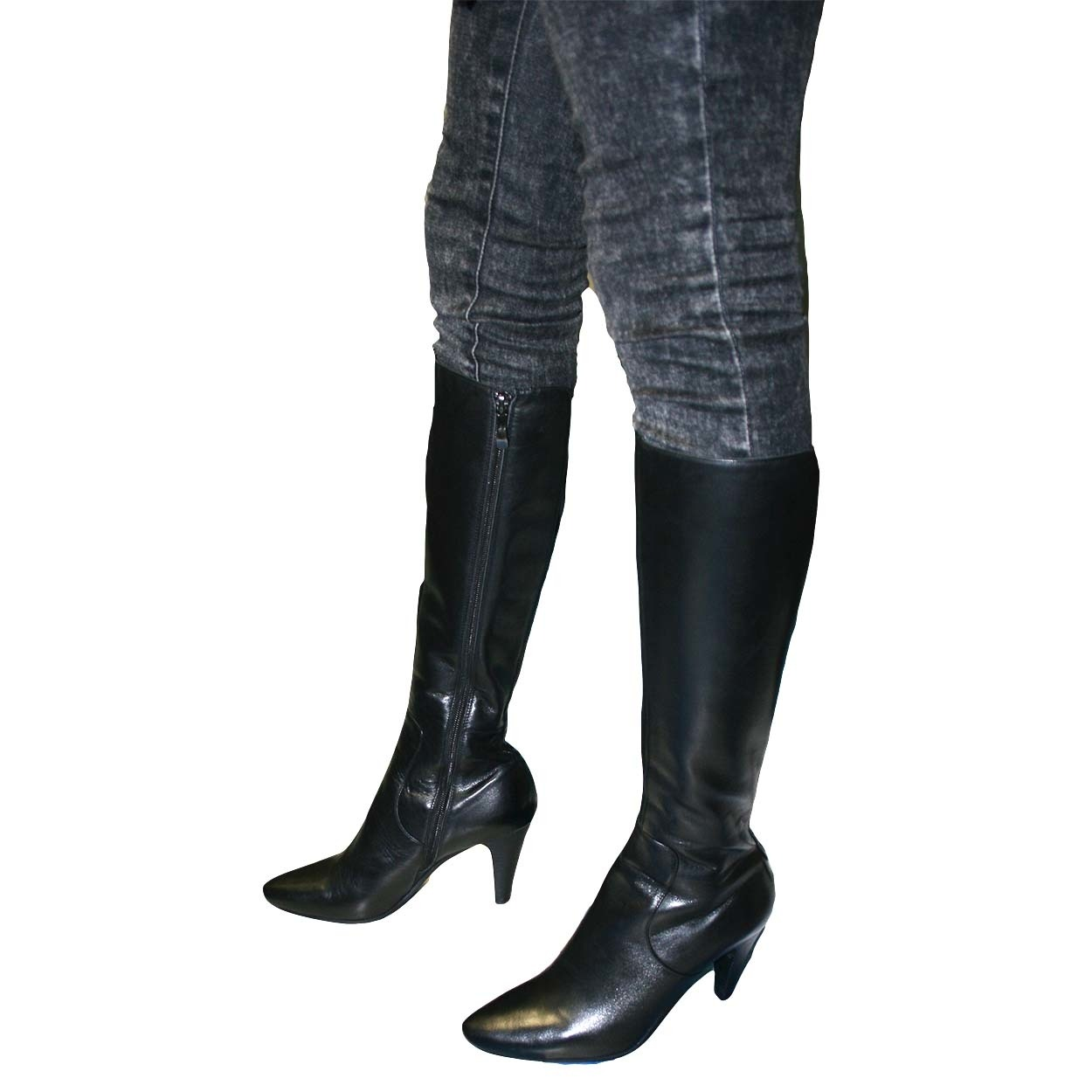 leather boots for women solemani womenu0027s paradise black leather boots x-slim calf ymovmce