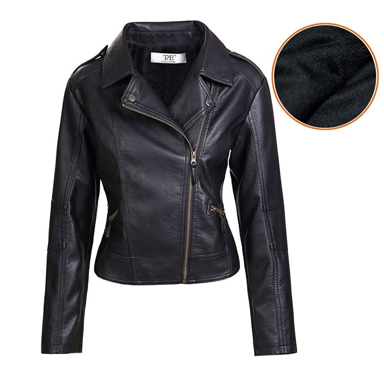 leather jacket artfasion womenu0027s slim tailoring faux leather pu short jacket coat us size rljoxya