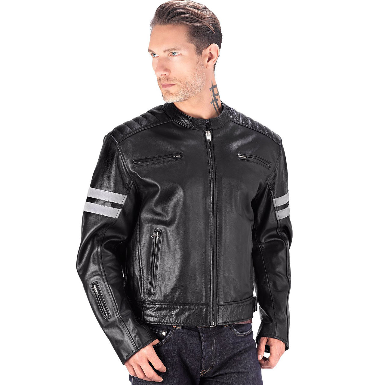 leather motorcycle jackets viking cycle bloodaxe leather motorcycle jacket for men front view ... cqvurro