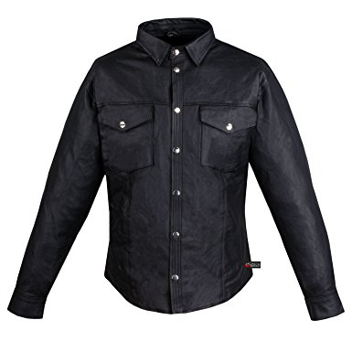 leather shirt menu0027s motorcycle cowhide leather black full sleeves poly liner shirt black s qoieryx
