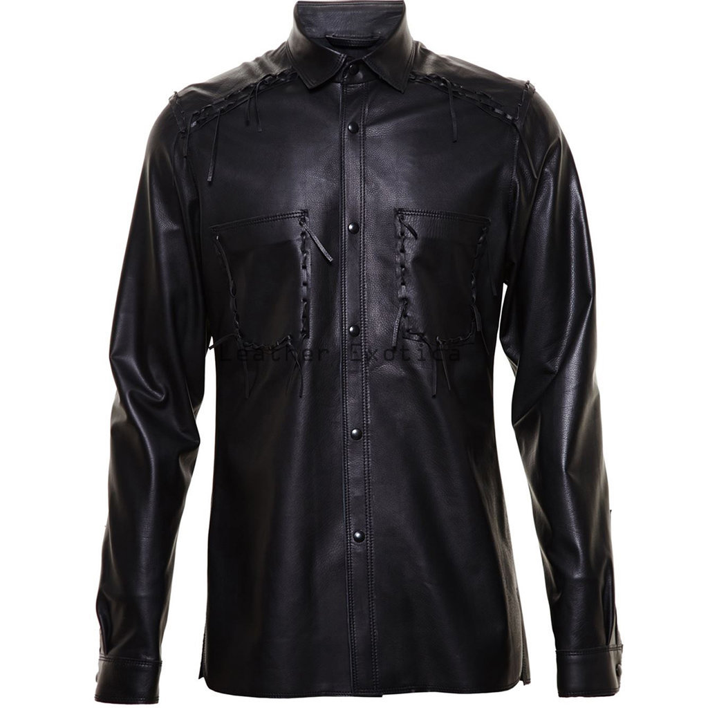 leather shirt online men leather corporate style shirt | men lamb leather long sleeves grqhksi