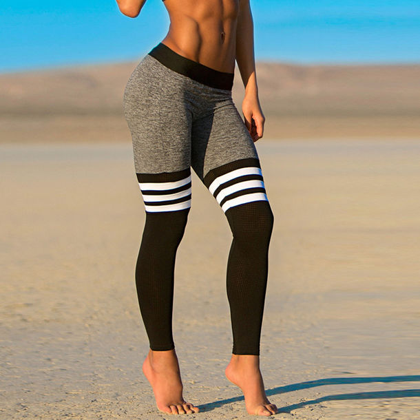 leggings sexy leggings yoga pants sports pants spandex workout leggings  black and thhsvjd