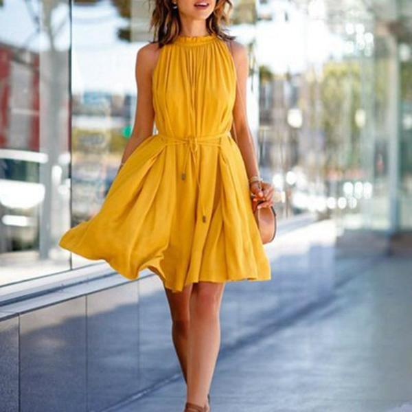 lemon - vintage yellow dress dckdhkk