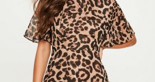 leopard print dress brown leopard print high neck dress fxssric