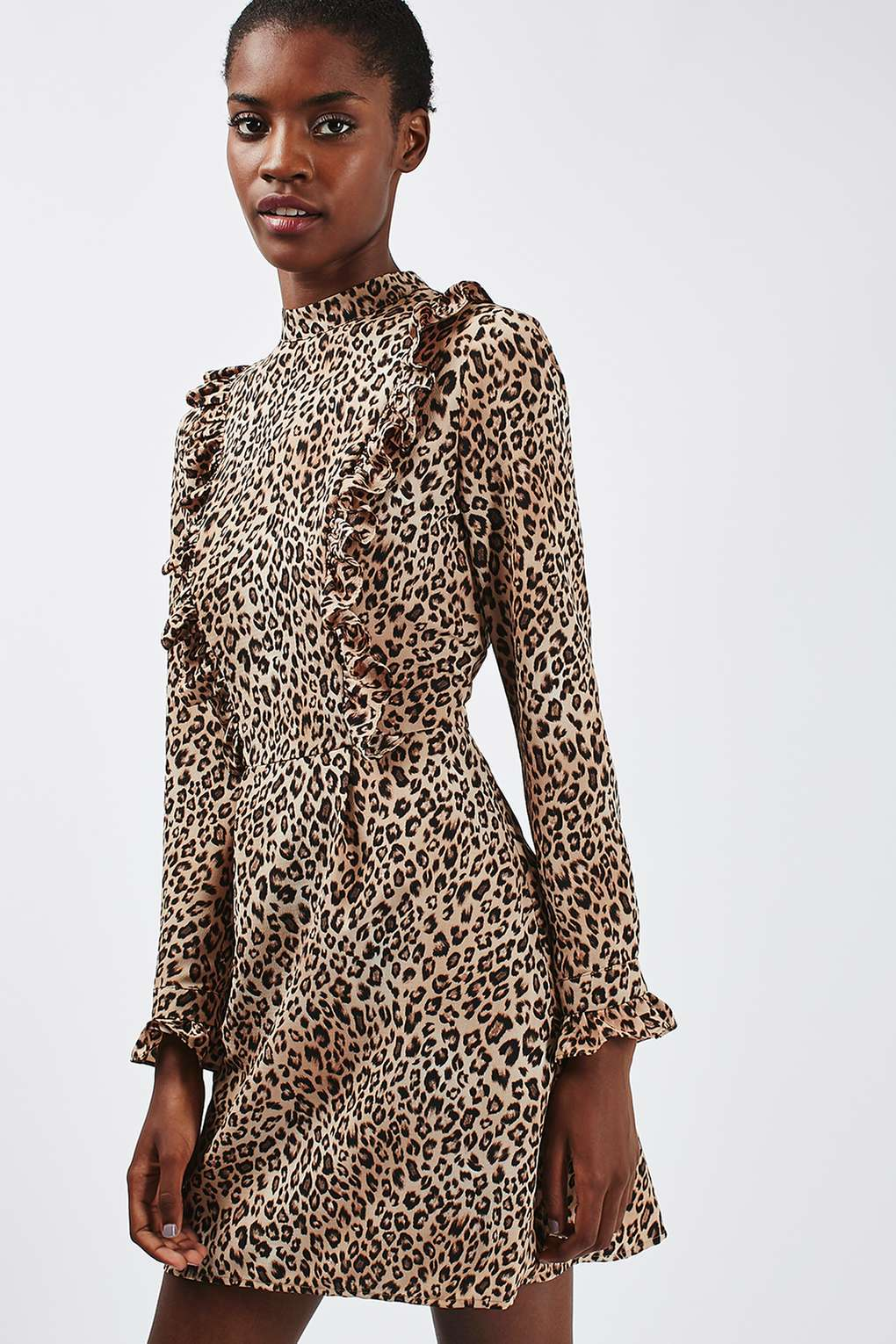 leopard print dress leopard print ruffle dress | topshop pamywrw
