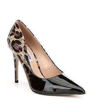 leopard pumps steve madden zoey leopard print patent leather pumps epbhsxf