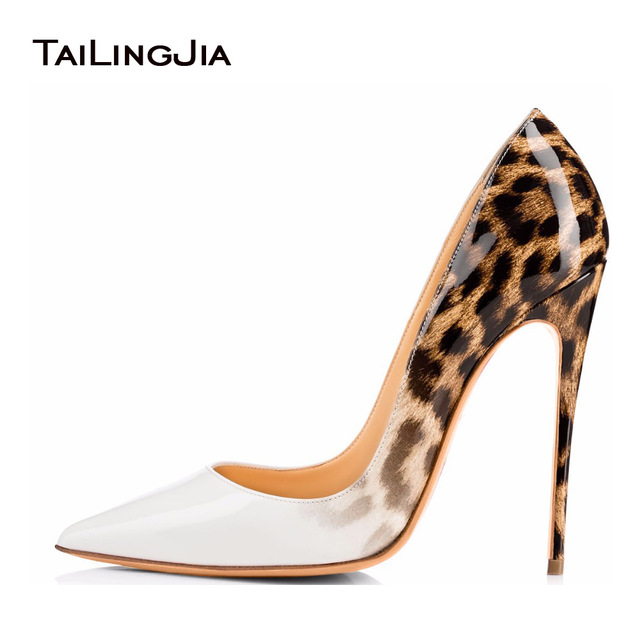 leopard pumps tailingjia women pumps spring 2017 white leopard shoes extremely high heels  ladies btbcrnt