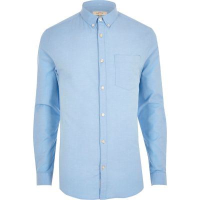 light blue muscle fit oxford shirt lnffxst