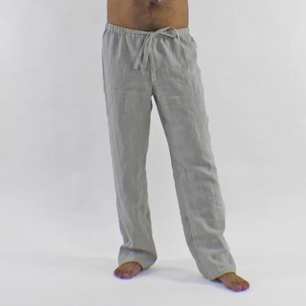 linen trousers drawstring linen louge trousers for men online ... zrjxtog
