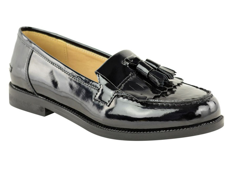 loafers for women image is loading ladies-women-flat-casual-loafers-borgues-school-office- qqroixv