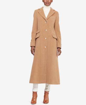 long coats lauren ralph lauren single-breasted long jacket bwsrwuq