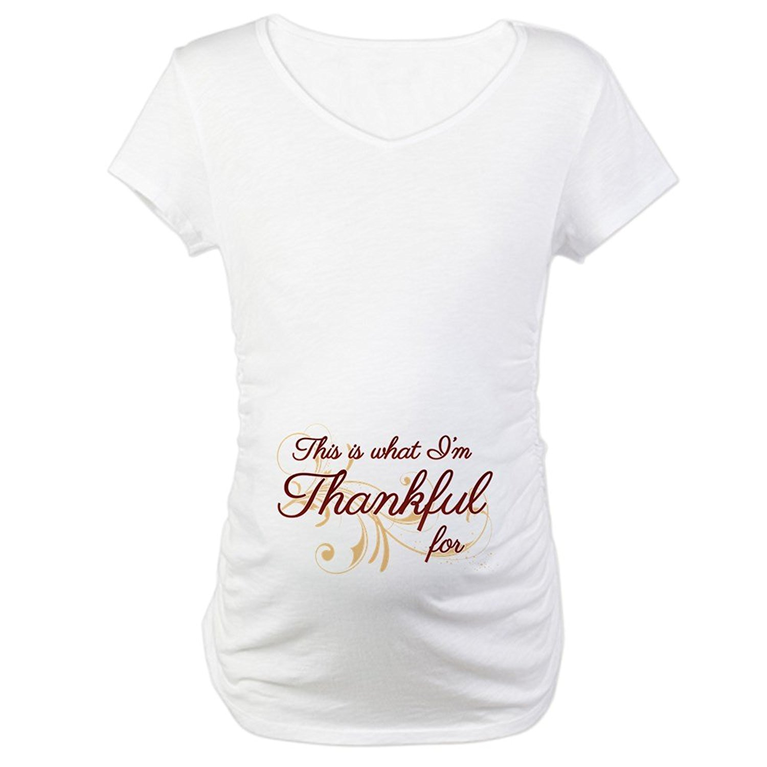 maternity shirts amazon.com: cafepress - this is what im thankful for - cotton maternity t- wmftlef