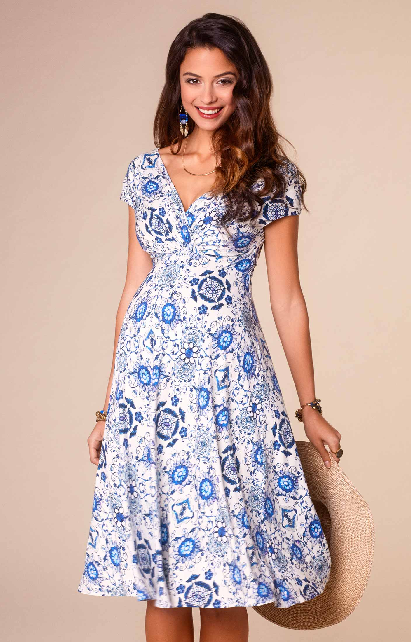 maternity wear alessandra maternity dress short porcelain blue by tiffany rose npgdfao