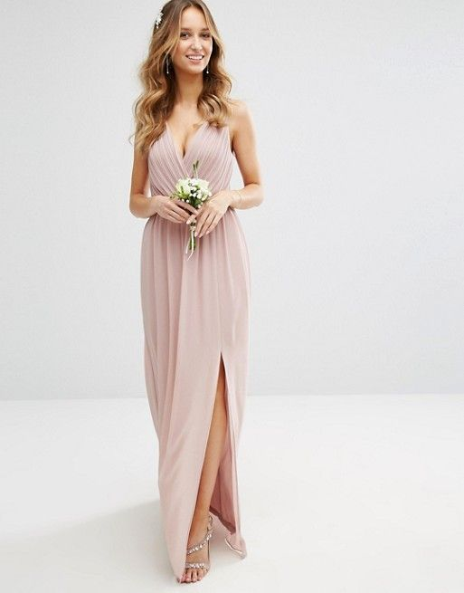 maxi dresses for weddings tfnc wedding pleated maxi dress with back detail asos fwblkrs